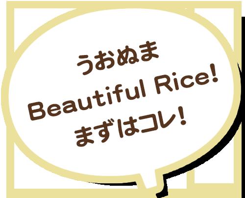 うおぬまBeautiful Rice!まずはコレ!